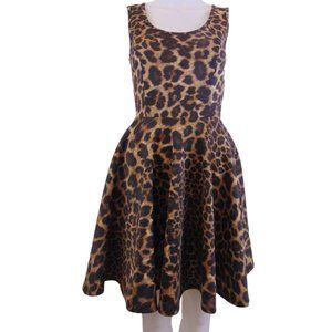 NEW Animal Print Sleeveless Summer Dress Size XS